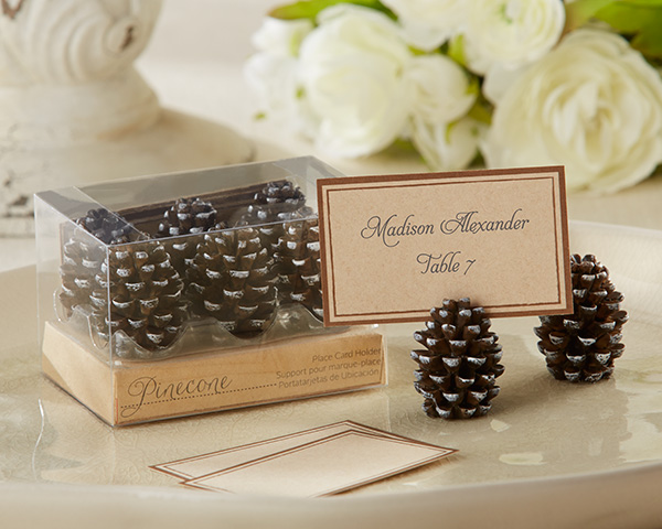 Pinecone Place Card/Photo Holders (Set of 6)-Pinecone Place Card/Photo Holders (Set of 6)