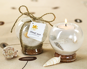 Sand and Shell Tealight Holder-