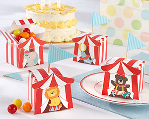Big Top Circus Favor Box (Set of 24 Assorted)-Big Top Circus Favor Box (Set of 24 Assorted)