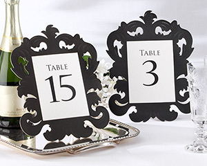 """Baroque"" Openwork Table Number Card (Set of 1-15)-Openwork Table Number Card"