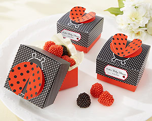 """Cute as a Bug"" 3-D Wing Ladybug Favor Box (Set of 24)-Cute as a Bug 3-D Wing Ladybug Favor Box (Set of 24)"