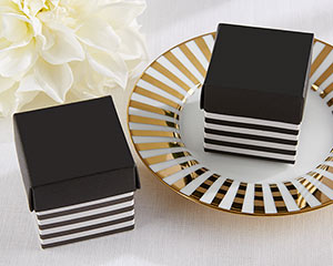 CLASSIC BLACK AND WHITE STRIPED FAVOR BOX (SET OF 24)-CLASSIC BLACK AND WHITE STRIPED FAVOR BOX (SET OF 24)