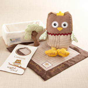 """My Little Night Owl"" Five-Piece Baby Gift Set-My Little Night Owl Five-Piece Baby Gift Set"