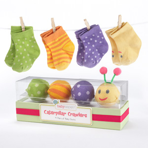 """Caterpillar Crawlers"" Baby Socks Gift Set-Caterpillar Crawlers Baby Socks Gift Set"