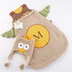 """My Little Night Owl"" Snuggle Sack and Cap-My Little Night Owl Snuggle Sack and Cap"