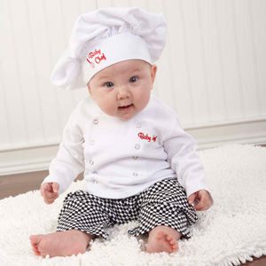 �Big Dreamzzz� Baby Chef Three Piece Layette in Culinary Themed Gift Box-�Big Dreamzzz� Baby Chef Three Piece Layette in Culinary Themed Gift Box