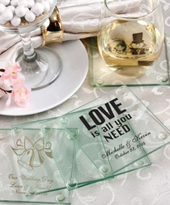 Personalized Glass Coasters-Personalized Glass Coasters