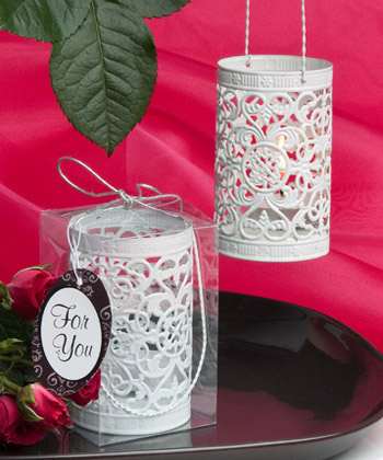 Metal filigree design luminary favor-Metal filigree design luminary favor