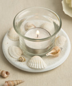 Sea Shell Themed Candle Votive With Natural Shell-Sea Shell Themed Candle Votive With Natural Shell