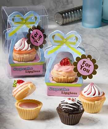 Sweet Little Cupcake Design Lip Gloss Favors-Sweet Little Cupcake Design Lip Gloss Favors