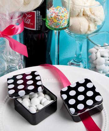 Pretty polka dot mint tins-Pretty polka dot mint tins