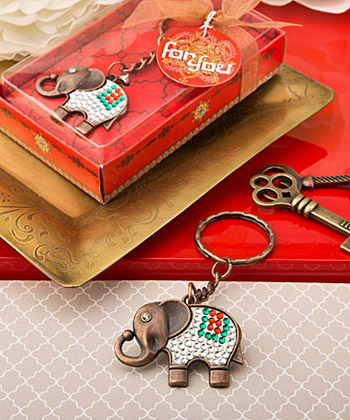 Exotic Indian Elephant copper key chain-Exotic Indian Elephant copper key chain