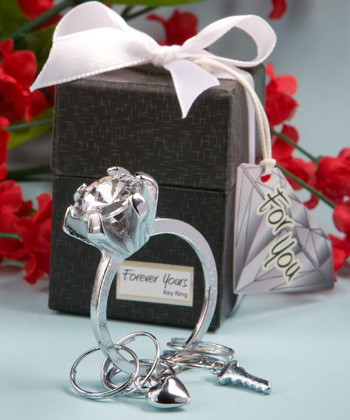 Forever Yours Collection diamond ring design key ring favors-Forever Yours Collection diamond ring design key ring favors
