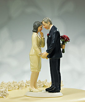"""Still in Love"" Mature Couple Figurine-50 Anniversary wedding cake topper"