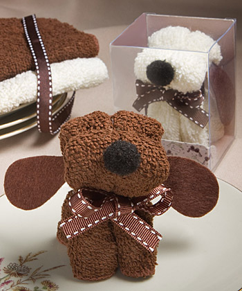 Puppy Dog Towel Favor-Puppy Dog Towel Favor