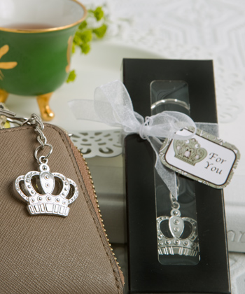 Majestic Crown Key Chain Favor-Majestic Crown Key Chain Favor