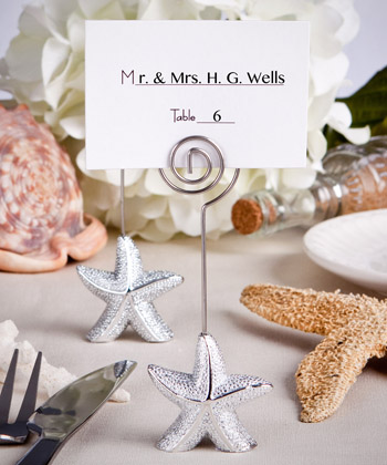 Shimmering Starfish Design Place Card Holder Favors-Shimmering Starfish Design Place Card Holder Favors