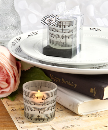 Musical note design candles-Musical note design candles