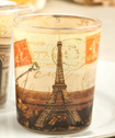 Parisian Themed Glass Votive Holders-Parisian Themed Glass Votive Holders From Fashioncraft