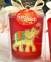 Ruby Red Good Luck Elephant Votive Candle Holder-Ruby Red Good Luck Elephant Votive Candle Holder