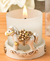Vintage Rocking Horse votive candle holder-Vintage, Rocking, Horse, votive, candle, holder, baby, shower, cute, gift, favor