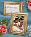 Beaded design gold metal place card photo frames-gold table placecard, photo frames