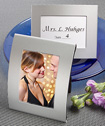 Matte silver metal place card/photo frames-Matte silver metal place card photo frames
