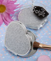 Classy Compacts Collection heart design metal compact favors-Classy Compacts Collection heart design metal compact favors
