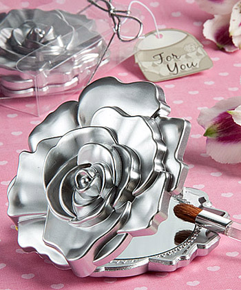 Realistic rose design mirror compacts-Realistic rose design mirror compacts