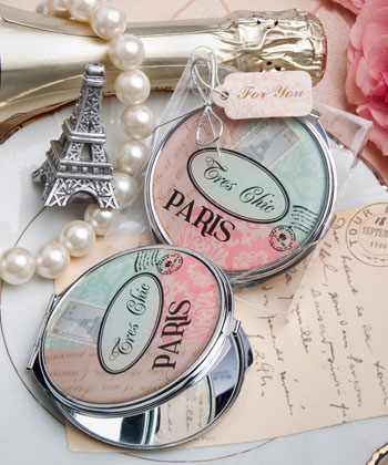 Pretty Paris-themed mirror compact favor-Pretty Paris-themed mirror compact favor