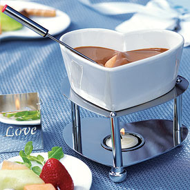 Heart Shaped Fondue Set-