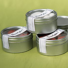 Round Tins with Clear Top Lids-Round Tin Wedding Favor Container