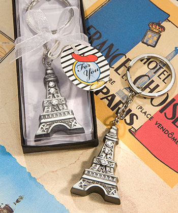 Love in Paris Collection Eiffel Tower key chain favors-Love in Paris Collection Eiffel Tower key chain favors