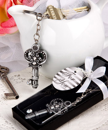 Antique Key Design Key Chain Favors-Antique Key Design Key Chain Favors