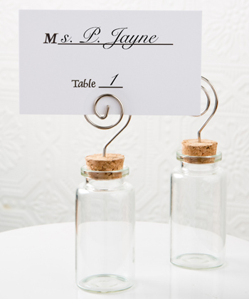 Perfectly Plain Glass Jar with place card holder-Perfectly Plain Glass Jar with place card holder