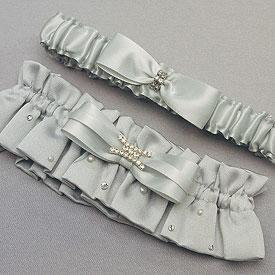 Platinum By Design Two Piece Bridal Garter Set-elegant bridal garter set