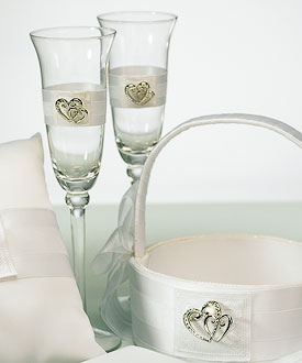 Classic Double Heart Toasting Set-