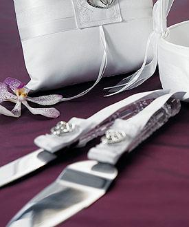 Classic Double Heart Cake Serving Set-heart theme wedding cake topper