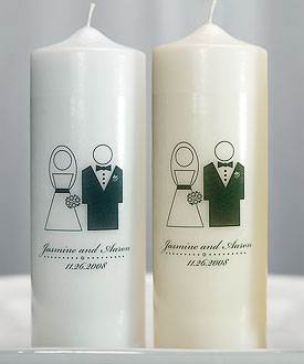 Bride and Groom Personalized Unity Candle-