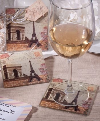 Vintage Paris Themed Coaster Sets-Vintage Paris Themed Coaster Sets