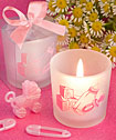 Favor Saver Collection Baby Girl Themed Candle Favors-Favor Saver Collection Baby Girl Themed Candle Favors