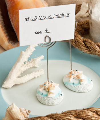 Life�s a Beach themed place card holders-Life�s a Beach themed place card holders
