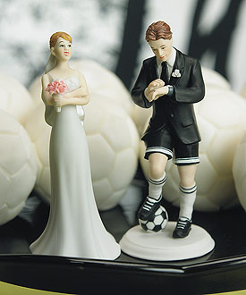 Soccer Player Groom Cake Topper-groom wedding cake topper, sports wedding cake topper, soccer wedding cake topper