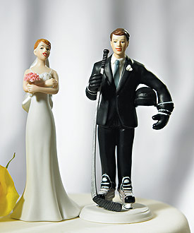 Hockey Groom Mix & Match Cake Topper-Hockey Groom Mix & Match Cake Topper