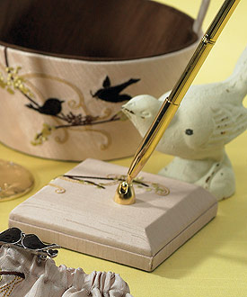 Love Bird Pen with Base-