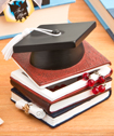 Graduation Hat And Books Trinket Box-Graduation Hat And Books Trinket Box