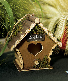 Miniature Wooden Birdhouses (Set of 4)-love bird wedding decoration, outdoor wedding ideas, green wedding decoration