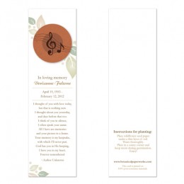 Musical Memorial Bookmarks-Musical Memorial Bookmarks