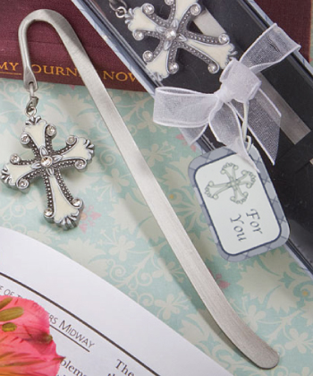 Cross Themed Bookmark Favors-Cross Themed Bookmark Favors