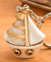 Stunning Vintage Sailboat Key Chain-Stunning Vintage Sailboat Key Chain